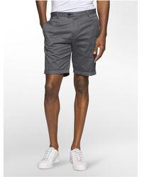 Calvin Klein | Black Slim Fit Cotton Dobby Textured Shorts for Men | Lyst