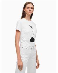 Calvin Klein White Warhol Portrait Regular Fit T-shirt