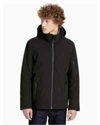 CALVIN KLEIN 205W39NYC - Black Soft Shell Hooded Jacket for Men - Lyst