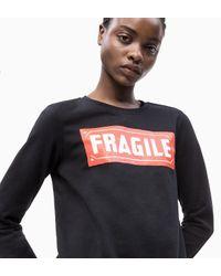 Calvin Klein Sweatshirt Met Print in het Black
