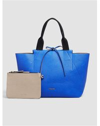 Calvin Klein | Blue Jeans Large Reversible Tote + Zip Pouch | Lyst