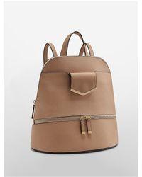 Calvin Klein Multicolor Saffiano Leather Zip Backpack