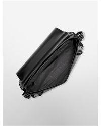 Calvin Klein - Black Sloane Flap Messenger Bag - Lyst