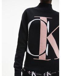 Calvin Klein Trui Van Biologisch Katoen Met Monogram in het Black