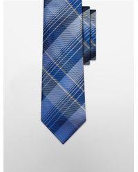 Calvin Klein - Blue Steel Tonal Plaid Tie for Men - Lyst