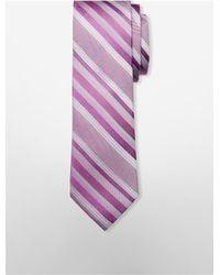 Calvin Klein | Purple Steel Carnival Stripe Tie for Men | Lyst