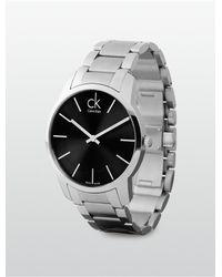 Calvin Klein - Metallic Platinum Exchange Bracelet Watch for Men - Lyst
