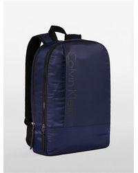 Calvin Klein | Blue Jeans Slim Square Nylon Backpack for Men | Lyst