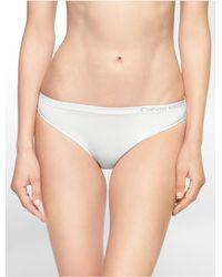 Calvin Klein White Underwear Pure Seamless Bikini