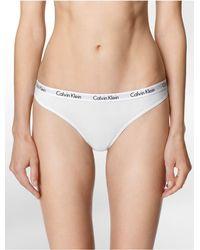 Calvin Klein | White Underwear Logo Cotton Bikini | Lyst