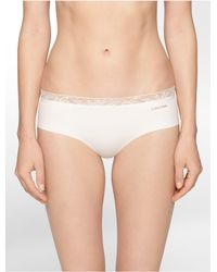 Calvin Klein | White Underwear Invisibles + Lace Hipster | Lyst
