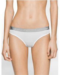 Calvin Klein   White Underwear Logo Micro Thong   Lyst