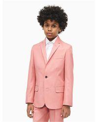 Calvin Klein Pink Boys Textured Twill Suit Jacket for men