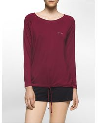Calvin Klein | Multicolor Underwear Drawstring Long Sleeve Logo Tee | Lyst