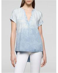 Calvin Klein | Blue Jeans Ombre Denim High-low Top | Lyst