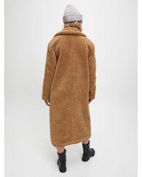 Calvin Klein Lange Teddy Jas in het Brown