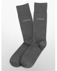 CALVIN KLEIN 205W39NYC Gray Underwear Egyptian Cotton Flat Knit Socks for men