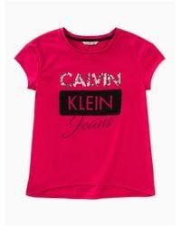 Calvin Klein Pink Calvin Graphic Tee