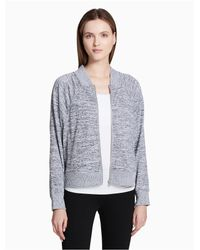 CALVIN KLEIN 205W39NYC - Gray Performance Boxy Bomber Jacket - Lyst