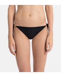 Calvin Klein Tanga Bikinislip Met Metallic Details in het Black