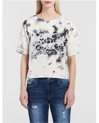 Calvin Klein | Blue Jeans Mixed Media Denim Shell Top | Lyst