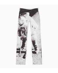 Calvin Klein Moon Landings Straight Jeans in het White