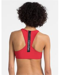 CALVIN KLEIN 205W39NYC - Red Core Neo Cropped Top - Lyst