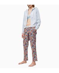 Calvin Klein Pyjamavest Met Logoband in het Blue