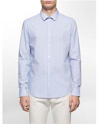 9c6d81ec592 Lyst - Calvin Klein Slim Fit Infinite Stretch Dobby Check Shirt in ...