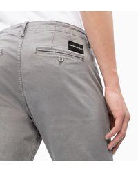 Calvin Klein Gray Ckj 026 Slim Chino Trousers for men
