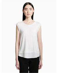Calvin Klein White Cap Sleeve Pocket T-shirt