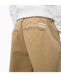 Calvin Klein Gray Ckj 056 Tapered Chino Shorts for men
