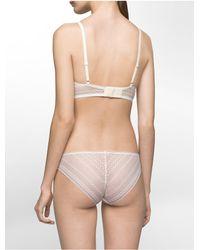 Calvin Klein   White Underwear Ombre Triangle Bralette   Lyst