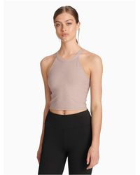 CALVIN KLEIN 205W39NYC Multicolor Performance Halter Neck Cropped Top