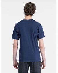 Calvin Klein - Blue Modern Cotton Logo Crewneck T-shirt for Men - Lyst