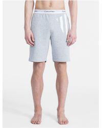 Calvin Klein Gray Modern Cotton Limited Edition Striped Sleep Shorts for men