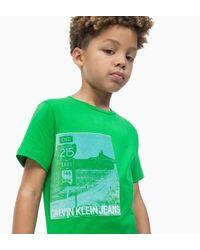 Camiseta con estampado fotogr�fico Calvin Klein de hombre de color Green