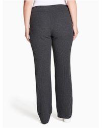 Calvin Klein Gray Plus Size Performance Thermal Pants