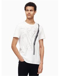 CALVIN KLEIN 205W39NYC - White Classic Fit Thin Linear Logo T-shirt for Men - Lyst