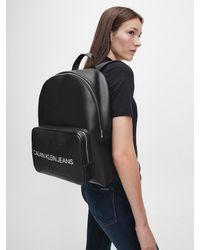 Sac dos rond Calvin Klein en coloris Black