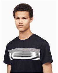 Calvin Klein Blue Slim Fit Striped T-shirt for men