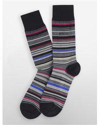 Calvin Klein - Black Underwear Multicolored Stripe Socks for Men - Lyst