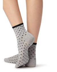 Calzedonia - Gray Short Trendy Patterned Socks - Lyst