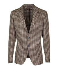 Tagliatore Multicolor Checked Single Breasted Blazer for men