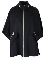 Michael Kors Black Double Face Cape Jacket
