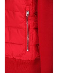 Moncler Red Tricot Cardigan In Wool Blend for men
