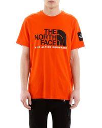 The North Face Orange Logo T-shirt for men