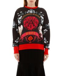 Alexander McQueen Red Printed Sweatshirt