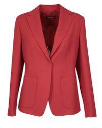 Max Mara Studio Red Cotton Blazer
