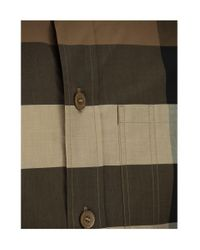 Burberry Brown Check Stretch Cotton Poplin Shirt